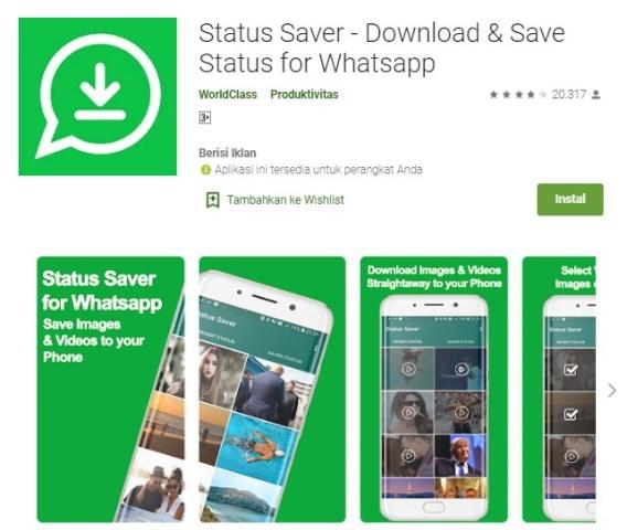 Aplikasi Download dan Save Status for Whatsapp
