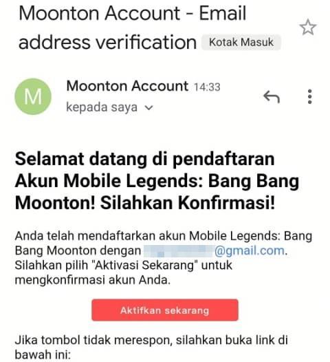 Cara daftar akun Moonton baru