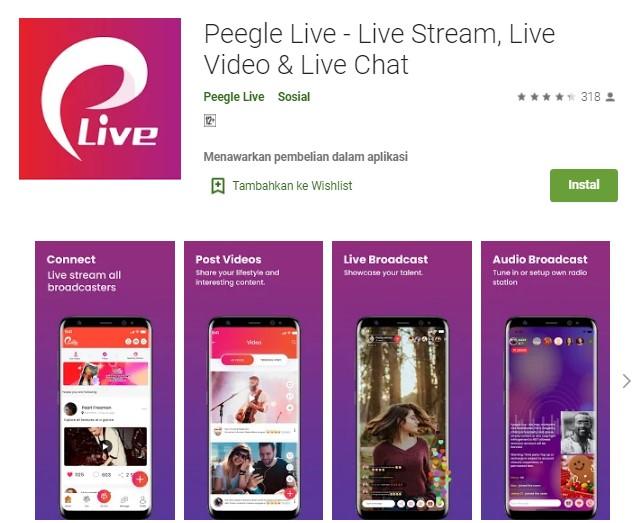 Aplikasi Peegle Live