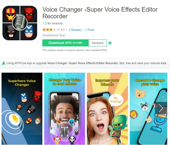 Voice Changer Super Voice Effects Editor Recorder