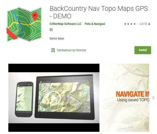 Aplikasi Topo Maps GPS