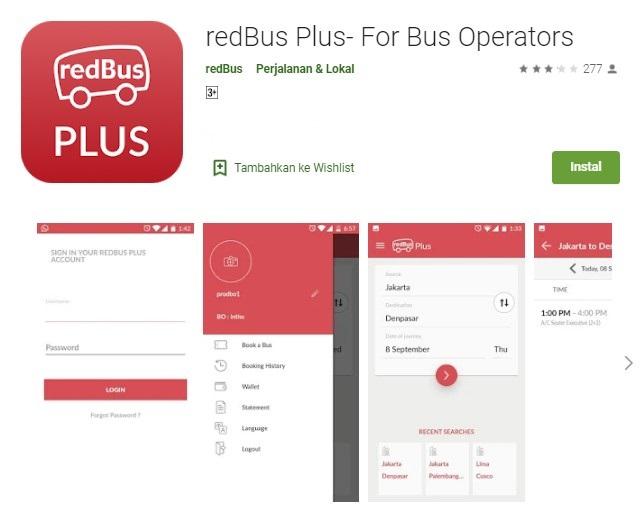 Aplikasi beli tiket bus online