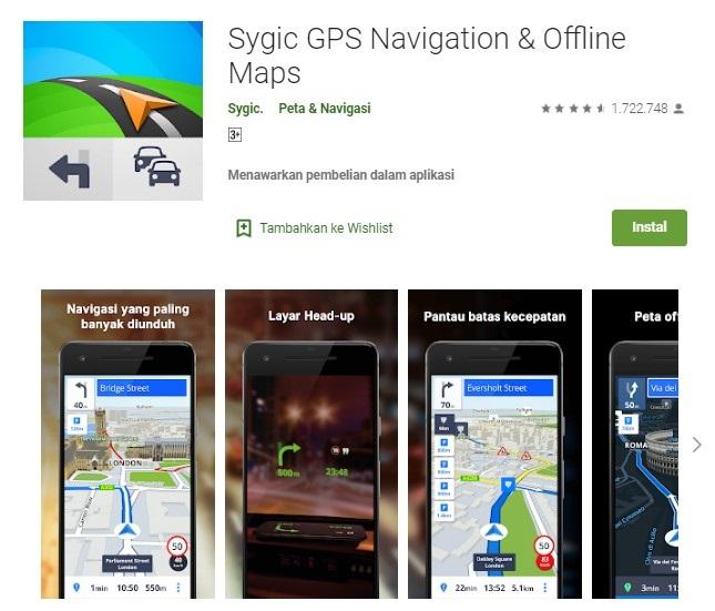 Aplikasi penunjuk jalan gratis