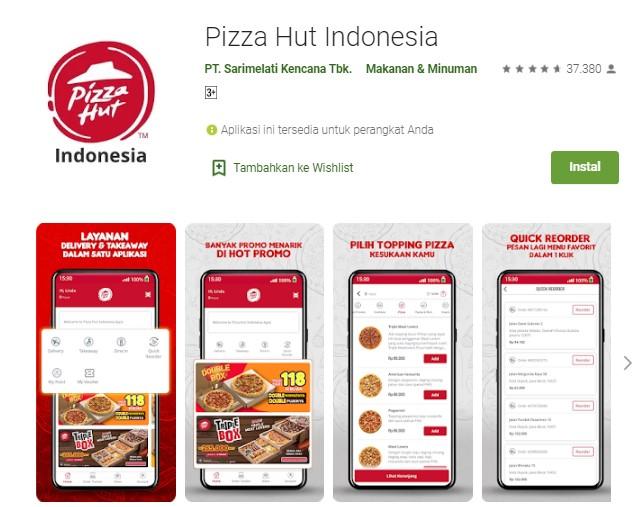 Aplikasi pesan pizza online