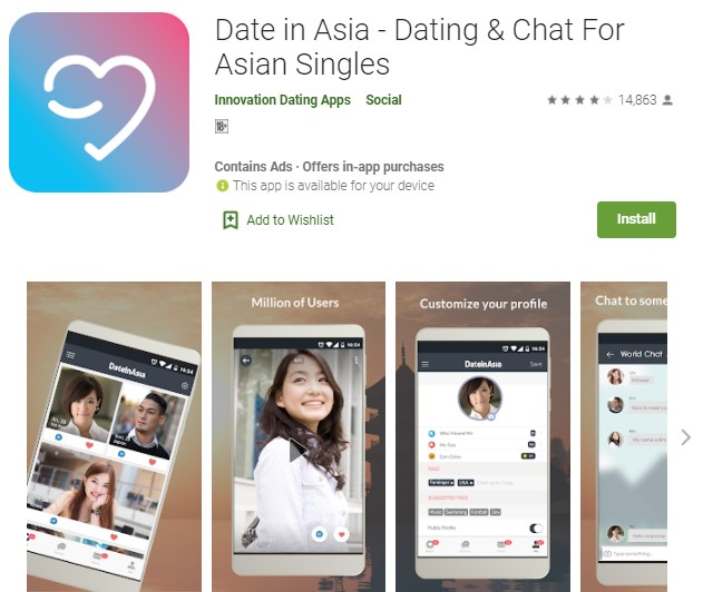 Date in Asia Aplikasi Cari Jodoh Luar Negeri