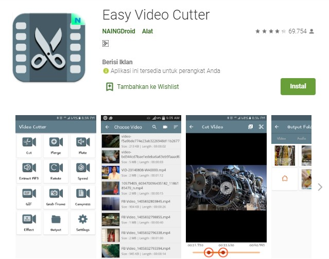 Easy Video Cutter Aplikasi untuk Memotong Video