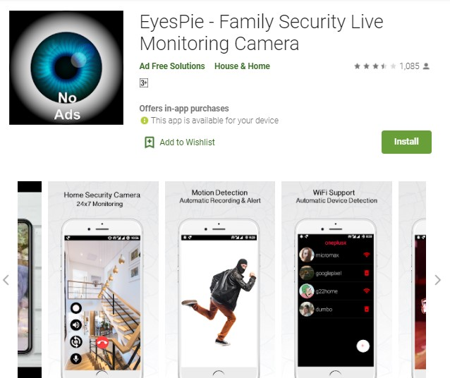 EyesPie Aplikasi CCTV HP