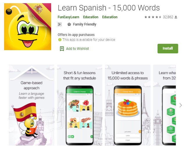 Learn Spanish 15000 Words
