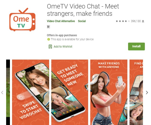OmeTV Video Chat Aplikasi Video Call Random Terbaik