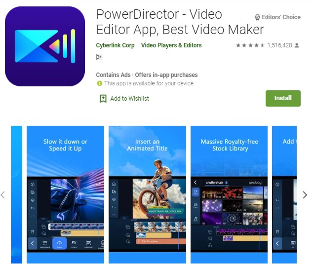 PowerDirector Video Editor App Best Video Maker