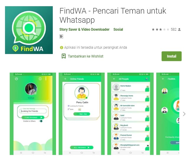 Aplikasi pencari nomor Whatsapp