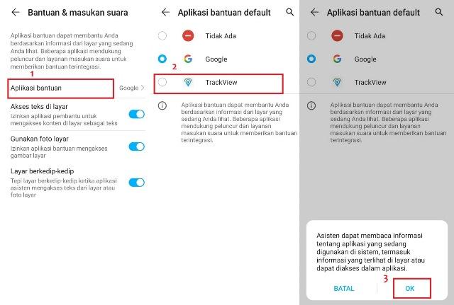 Cara setting aplikasi TrackView