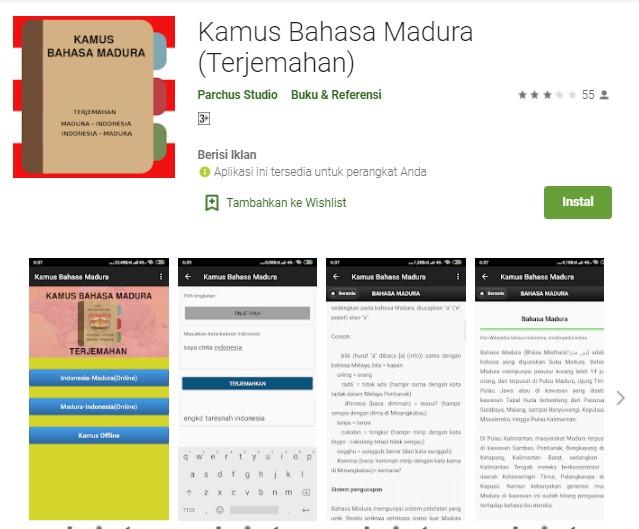 Kamus Bahasa Madura Terjemahan Aplikasi Kamus Bahasa Madura