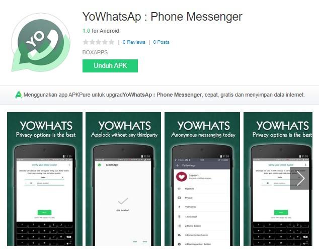 Aplikasi YoWhatsAp