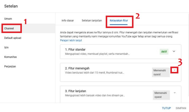 Cara verifikasi thumbnail YouTube