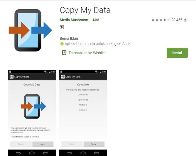 Copy My Data Aplikasi Transfer Kontak Terbaik