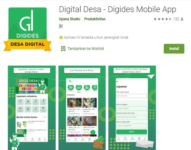 Digital Desa Digides Mobile App