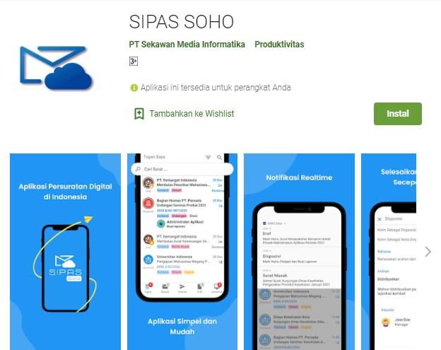 SIPAS SOHO Aplikasi Surat Menyurat