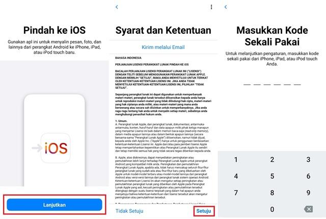 Cara Backup Android ke iPhone